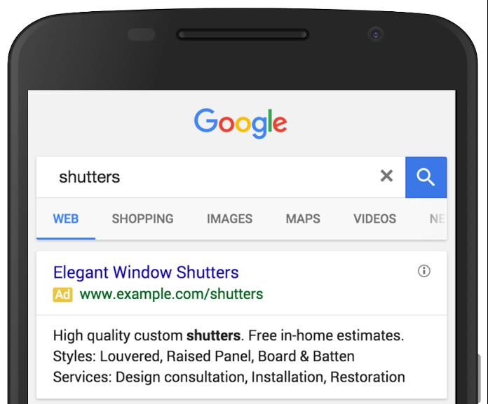 structured snippets screen